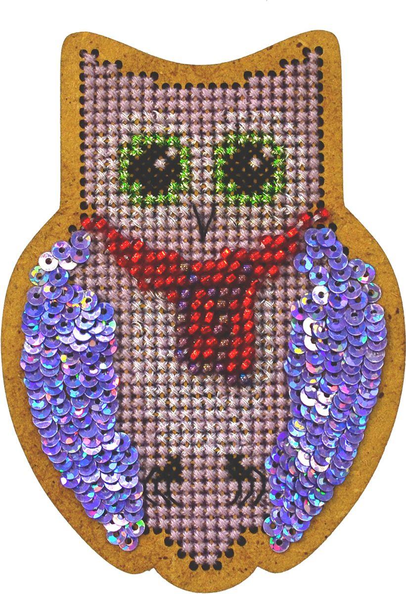 Набор для вышивания крестом Созвездие Новогодняя игрушка. Совушка, 9 х 6 см кружка loraine 350 мл