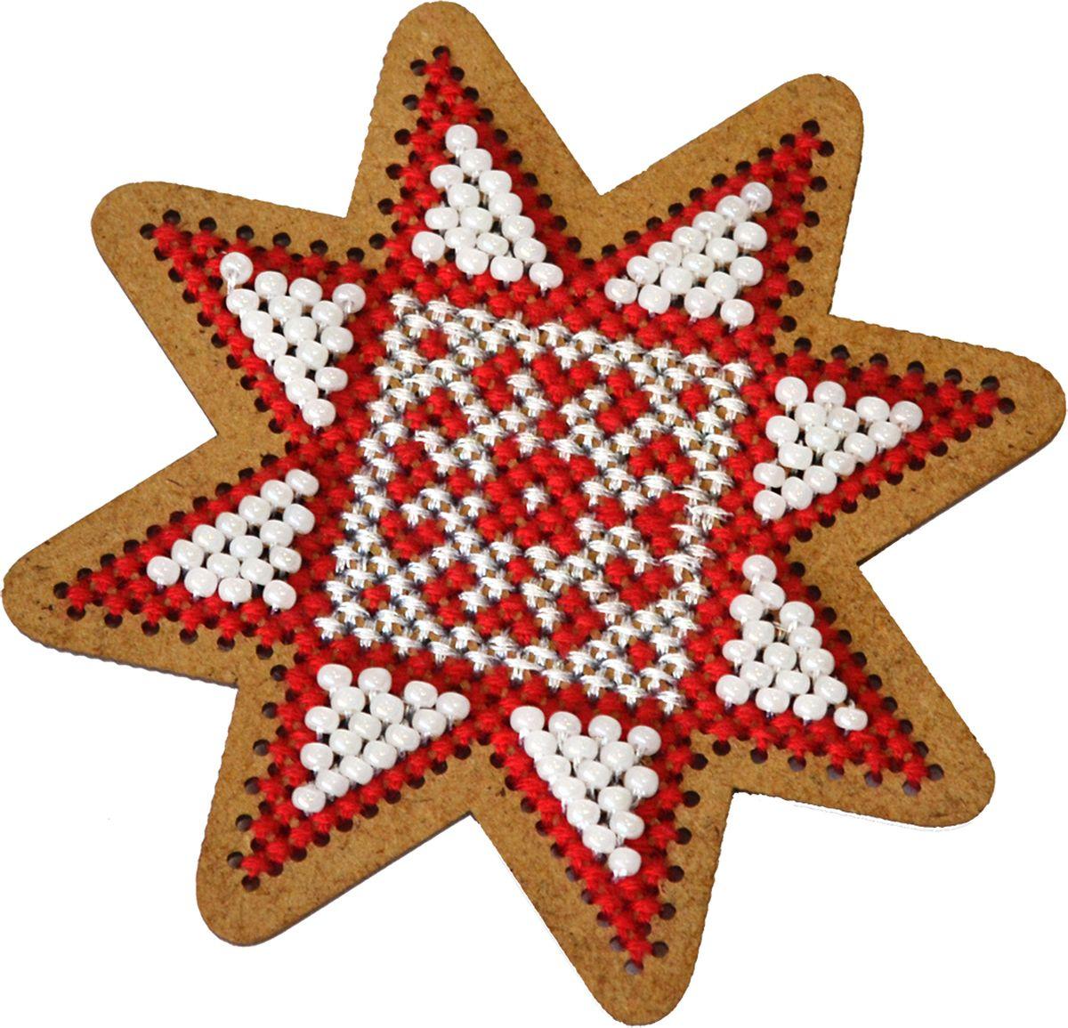 """Набор для вышивания крестом Созвездие """"Новогодняя игрушка. Рождественская звезда"""", 7,5 х 7,5 см"""