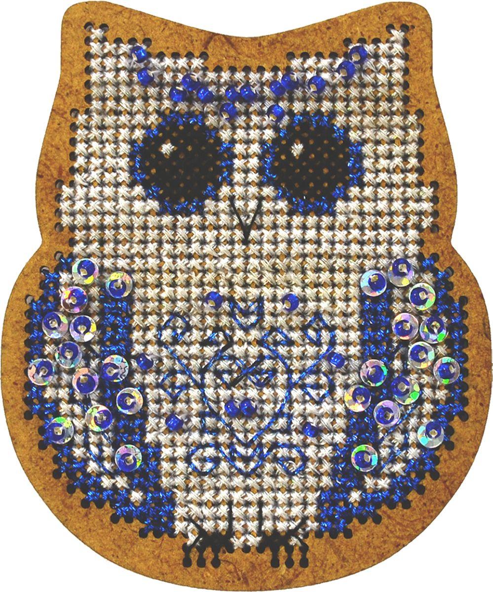 Набор для вышивания крестом Созвездие Новогодняя игрушка. Сова, 6,5 х 7,5 см набор для вышивания крестом luca s дневной котенок 5 5 х 10 см