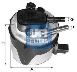 Фильтр топливный дизель UFI 55.170.00 топливный фильтр рено лагуна 3 дизель