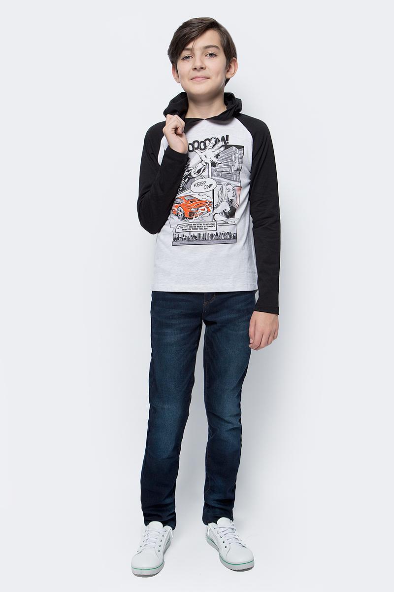 Джемпер для мальчика Sela, цвет: светло-серый меланж. T-811/049-7423. Размер 152 футболка для мальчика sela цвет светло серый меланж ts 811 109 7331 размер 152