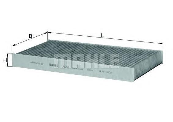 Салонный фильтр Mahle/Knecht LAK56 салонный фильтр мазда демио dy3w