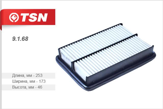 Воздушный фильтр TSN 91689168Фильтр воздушный (пластиковый корпус) KIA Sportage TSN. 9168