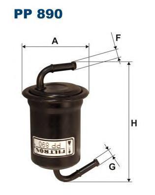 Фильтр топливный Filtron PP890PP890