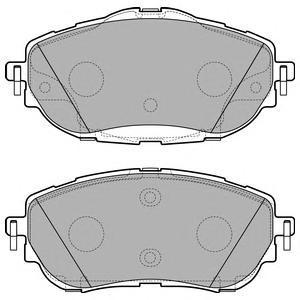 Тормозные колодки дисковыеDELPHI LP2691LP2691Колодки передние DELPHI TOYOTA AURIS (E18). LP2691