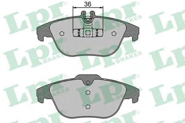 Колодки тормозные задние LPR / AP 05P127405P1274
