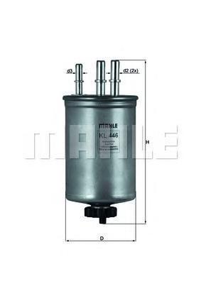 Фильтр топливный Mahle KL446KL446