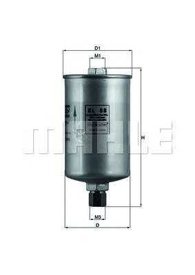 Фильтр топливный Mahle KL88KL88