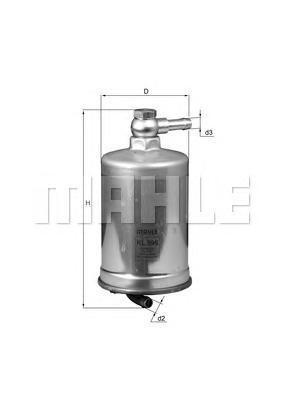 Топливный фильтр Mahle/Knecht. KL599KL599Фильтр топливный AUDI: A4 2.7TDI/3.0TDI 04- Mahle/Knecht. KL599