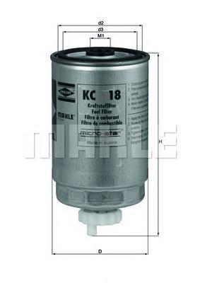 Фильтр топливный Mahle KC18KC18