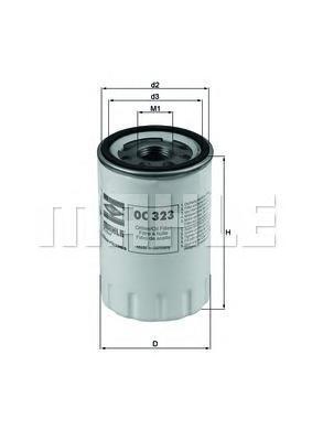 Масляный фильтр Mahle/Knecht OC323OC323Фильтр масляный Jaguar S-Type/XK/XJ 3.2-4.2 96] Mahle/Knecht. OC323