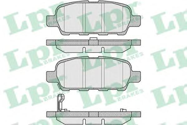 Колодки тормозные задние LPR / AP 05P85705P857