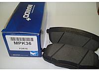 Тормозные колодки дисковые Mando. MPK36MPK36Тормозные колодки дисковые к-т Mando. MPK36