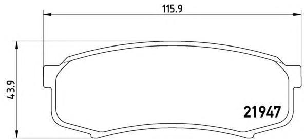 Колодки тормозные дисковые Brembo, задние. P83024P83024