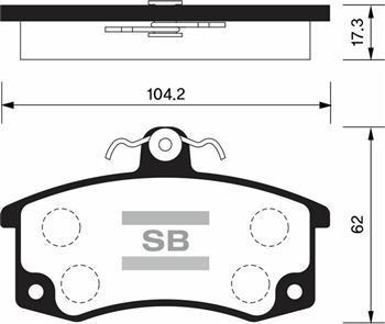 Колодки тормозные дисковые Sangsin, комплект 4 шт. SP1181SP1181