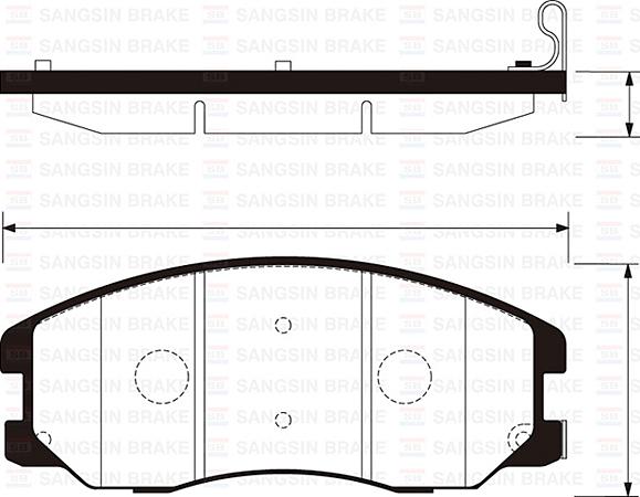 Тормозные колодки дисковые Sangsin SP1204SP1204Колодки тормозные передние Sangsin. SP1204