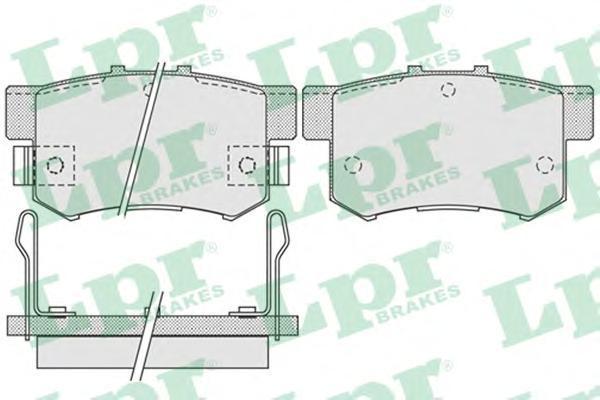 Колодки тормозные задние LPR / AP 05P101405P1014