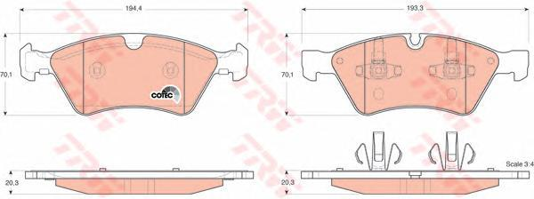 Колодки тормозные дисковые TRW/Lucas GDB1642GDB1642