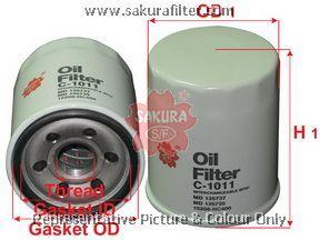 Масляный фильтр Sakura C1011C1011Фильтр масл. Sakura Sakura авто. C1011