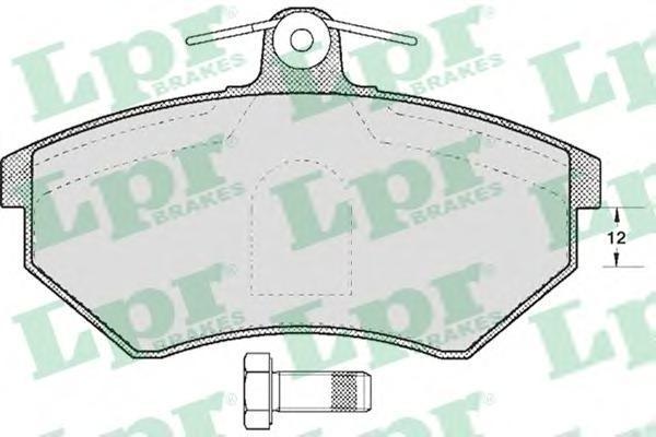 Колодки тормозные передний LPR / AP 05P60005P600