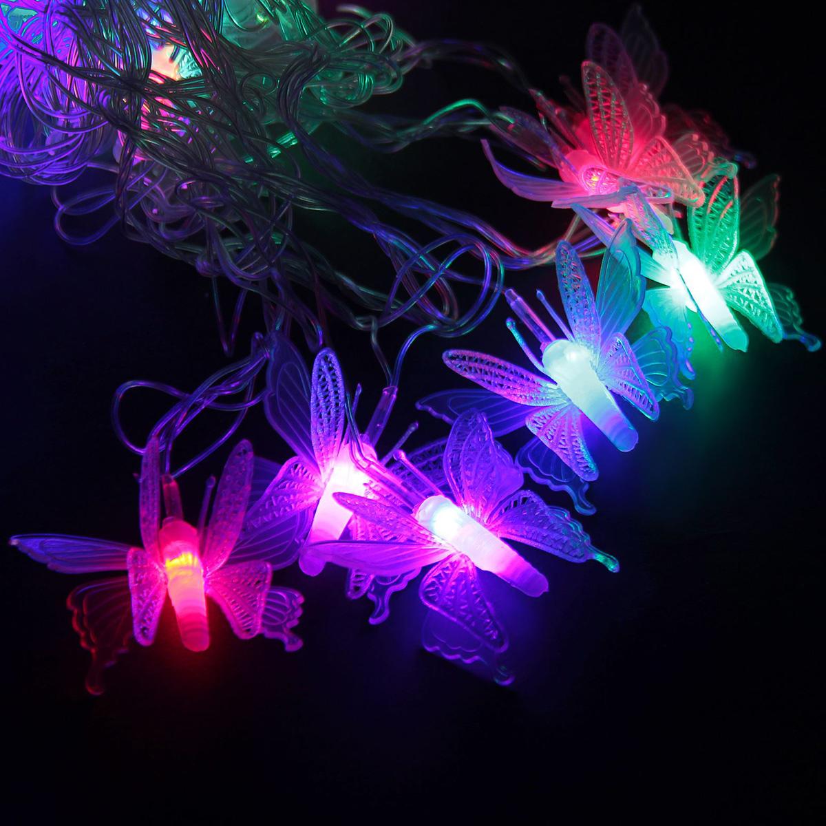 Гирлянда светодиодная Luazon Метраж. Бабочка малая, 20 ламп, 220 V, длина 5 м1080384Светодиодные гирлянды и ленты — это отличный вариант для новогоднего оформления интерьера или фасада. С их помощью помещение любого размера можно превратить в праздничный зал, а внешние элементы зданий, украшенные ими, мгновенно станут напоминать очертания сказочного дворца. Такие украшения создают ауру предвкушения чуда. Деревья, фасады, витрины, окна и арки будто специально созданы, чтобы вы украсили их светящимися нитями.