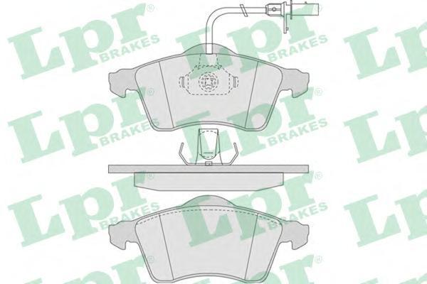 Колодки тормозные дисковые передние LPR / AP 05P78705P787