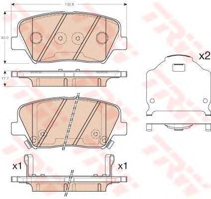 Колодки передние TRW/Lucas GDB3549GDB3549