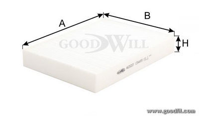 Салонный фильтр Goodwill. AG262CFAG262CFФильтр салона 262 CF AG GW FORD Fiesta, Fusion-стандарт Goodwill. AG262CF