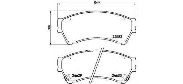 Тормозные колодки дисковые Brembo P49039P49039Колодки тормозные передние Brembo Mazda 6 07-. P49039