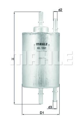 Фильтр топливный Mahle KL592KL592