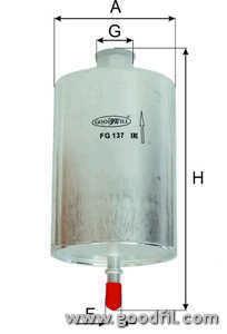 Топливный фильтр Goodwill FG137FG137Фильтр топл. 137 FG GW SSANGYONG Action, Kyron, Rexton, Rodius Goodwill. FG137