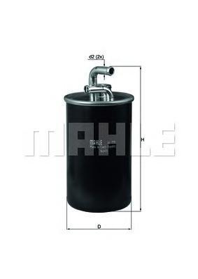 Топливный фильтр Mahle/Knecht KL775KL775Фильтр топливный DODG Caliber, JEEP Compass 06 - Mahle/Knecht. KL775