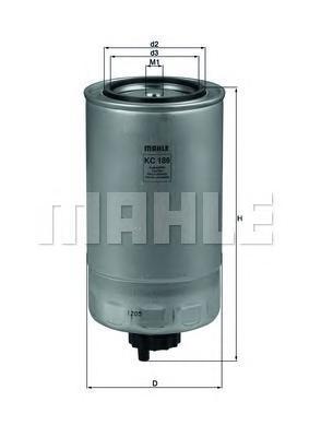 Фильтр топливный Mahle KC186KC186