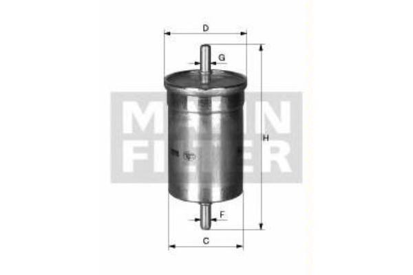 Фильтр топливный Mann-Filter WK6002WK6002