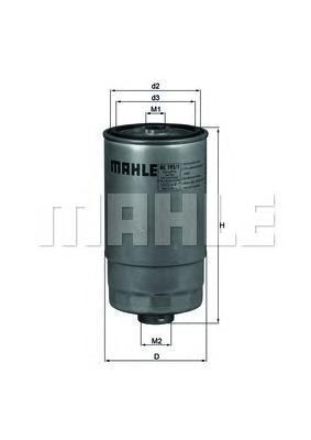 Топливный фильтр Mahle/Knecht KC1951KC1951Фильтр топливный LANCIA: LYBRA, THESIS, ALFA ROMEO: 156, 147, 166 Mahle/Knecht. KC1951
