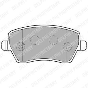 Тормозные колодки дисковыеDELPHI LP1865LP1865Колодки тормозные дисковые DELPHI. LP1865