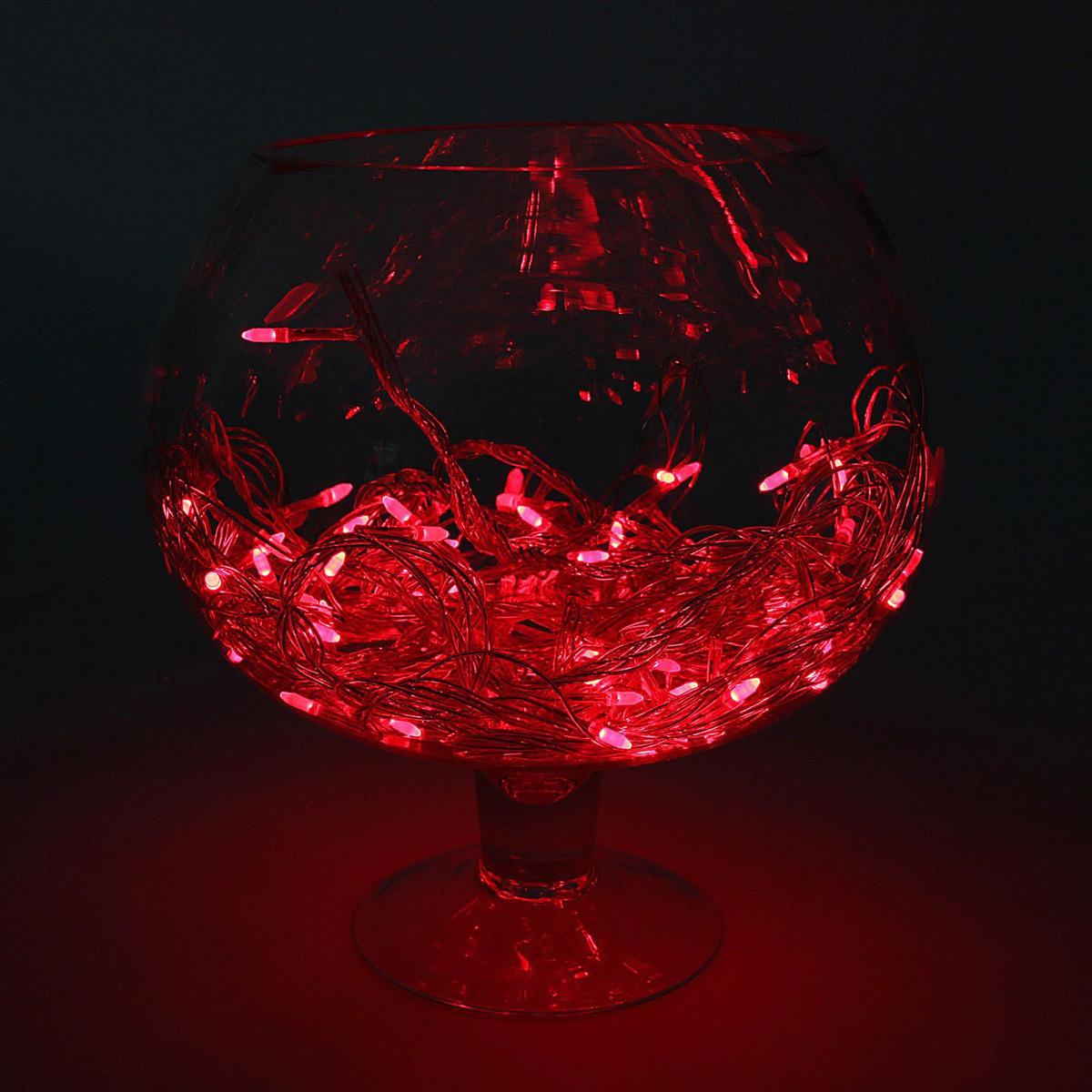 Гирлянда светодиодная Luazon Метраж. Игла, цвет: красный, 100 ламп, 8 режимов, 220 V, длина 10 м. 10805231080523Светодиодные гирлянды и ленты — это отличный вариант для новогоднего оформления интерьера или фасада. С их помощью помещение любого размера можно превратить в праздничный зал, а внешние элементы зданий, украшенные ими, мгновенно станут напоминать очертания сказочного дворца. Такие украшения создают ауру предвкушения чуда. Деревья, фасады, витрины, окна и арки будто специально созданы, чтобы вы украсили их светящимися нитями.