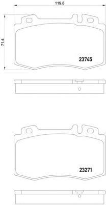 Колодки дисковые Textar23745022374502