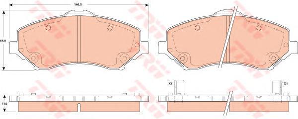 Тормозные колодки дисковые TRW / Lucas GDB4605GDB4605Колодки тормозные TRW / Lucas. GDB4605