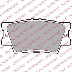 Тормозные колодки дисковыеDELPHI LP2004LP2004Колодки тормозные дисковые DELPHI. LP2004