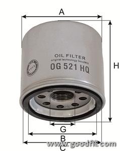 Масляный фильтр Goodwill OG521HQOG521HQФильтр масл. 521 ОG HQ GW Ford, KIA, Mazda, Nissan, Renault Goodwill. OG521HQ