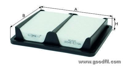 Воздушный фильтр Goodwill AG420AG420Фильтр возд. 420 AG GW INFINITI M(Y51) Goodwill. AG420
