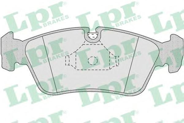 Колодки тормозные дисковые передниеLPR / AP 05P75705P757