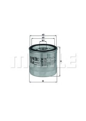 Масляный фильтр Mahle/Knecht OC78OC78Фильтр масляный h=78.5 d=76.0 Audi 200/Quattro 2.1 (035 115 591) Knecht Mahle/Knecht. OC78