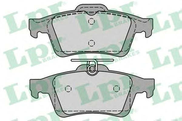 Колодки тормозные задние LPR / AP 05P123605P1236