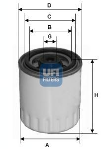 Фильтр топливный дизель UFI 24.321.0024.321.00