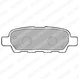 Тормозные колодки дисковыеDELPHI LP1807LP1807Колодки тормозные дисковые DELPHI. LP1807