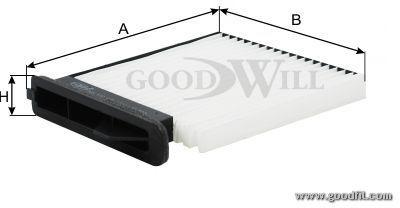 Салонный фильтр Goodwill AG172CFAG172CFФильтр салона 172 CF AG GW NISSAN TIDA Goodwill. AG172CF