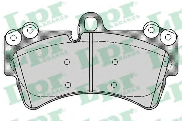 Колодки тормозные передние LPR / AP 05P125705P1257