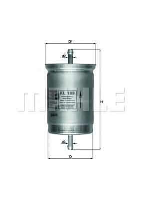 Топливный фильтр Mahle/Knecht KL189KL189Фильтр топливный NISSAN BLUEBIRD/SUNNY 1.3-2.0 Mahle/Knecht. KL189